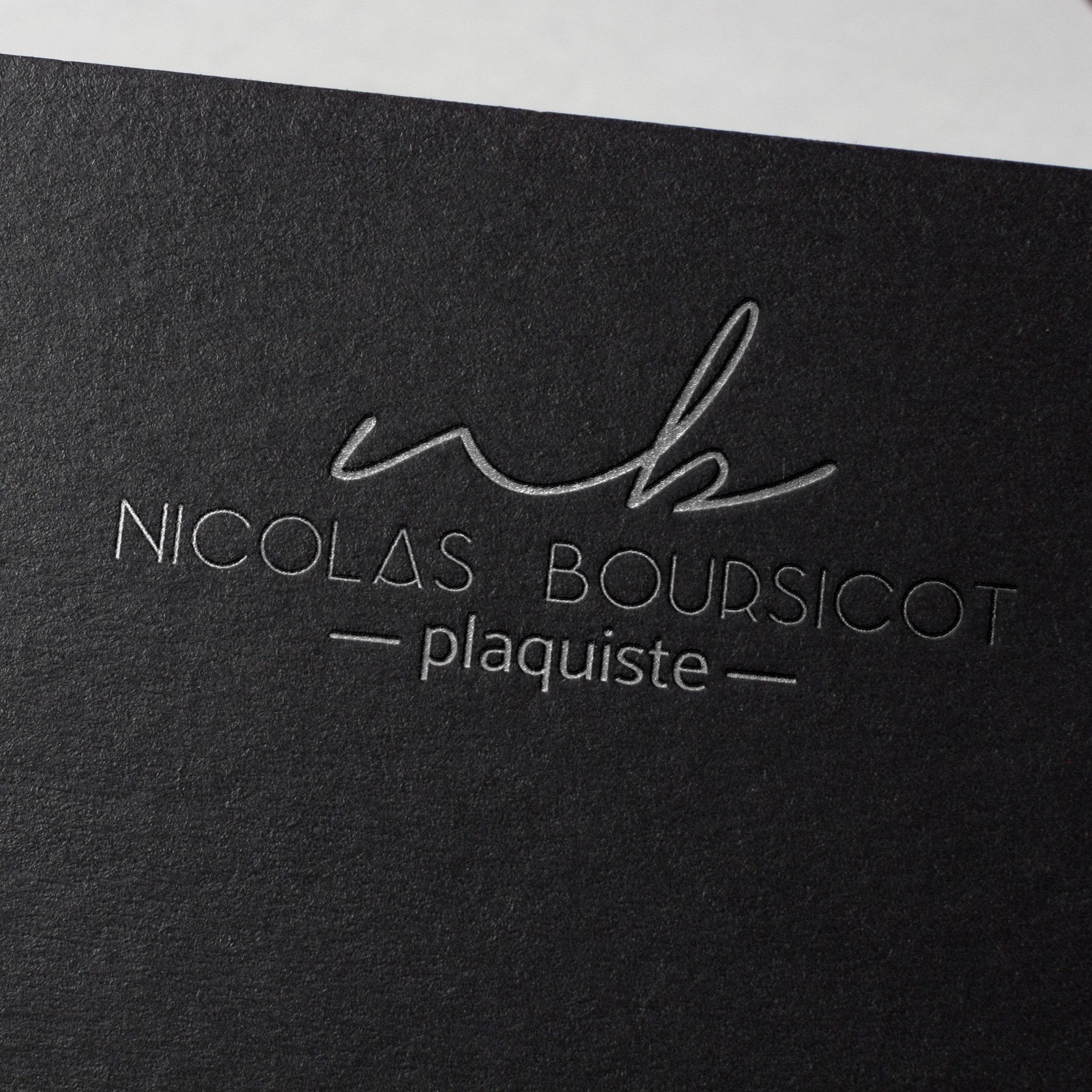 Identité visuelle plaquiste Nicolas Boursicot