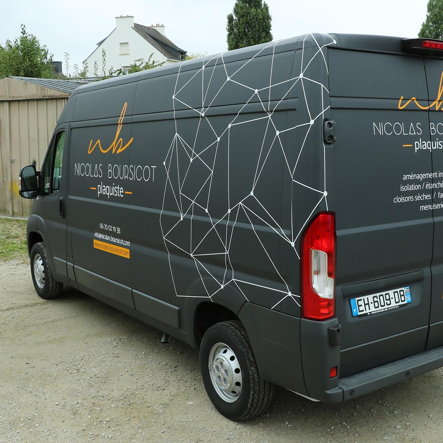 Habillage camion plaquiste Nicolas Boursicot