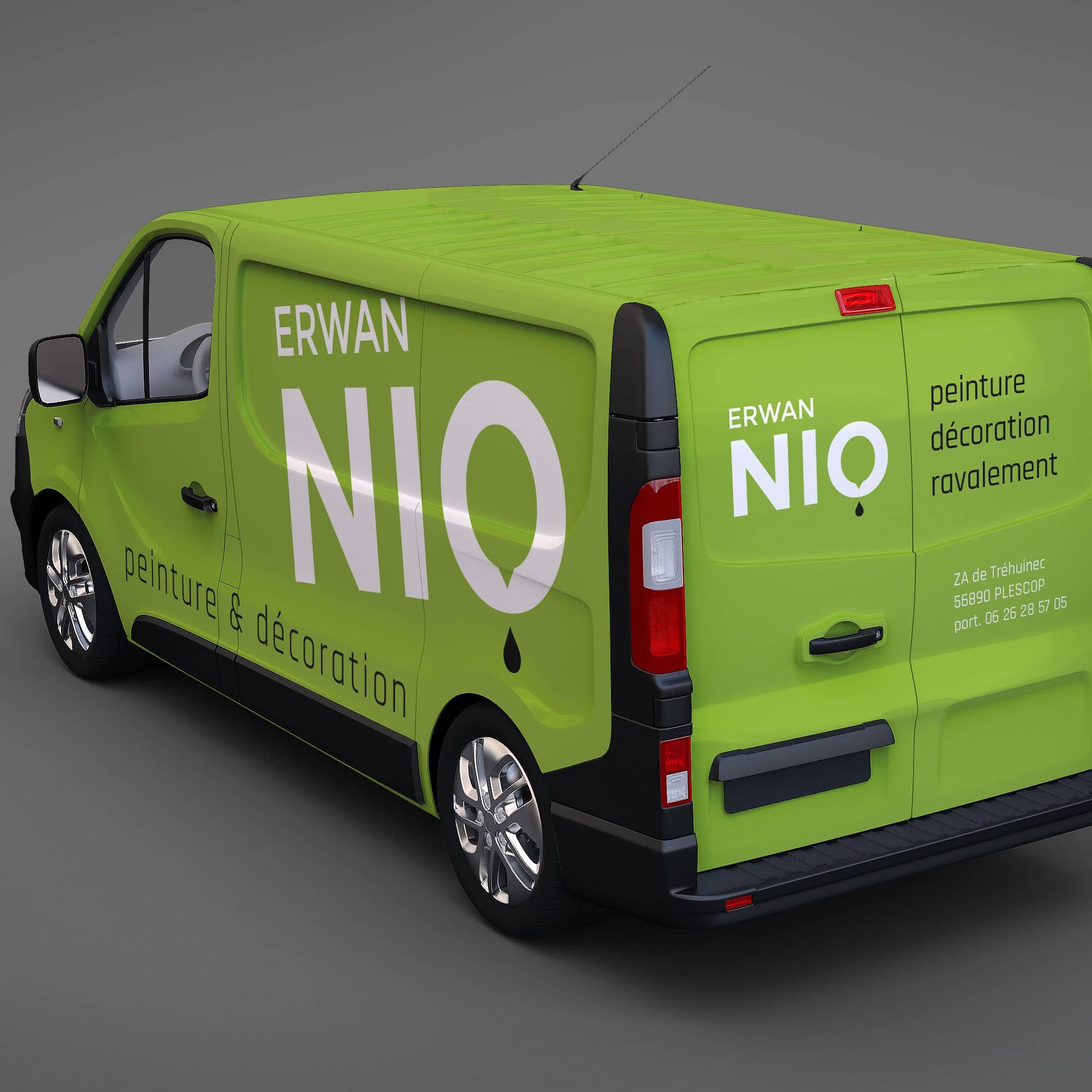 Habillage camion peintre Erwan Nio