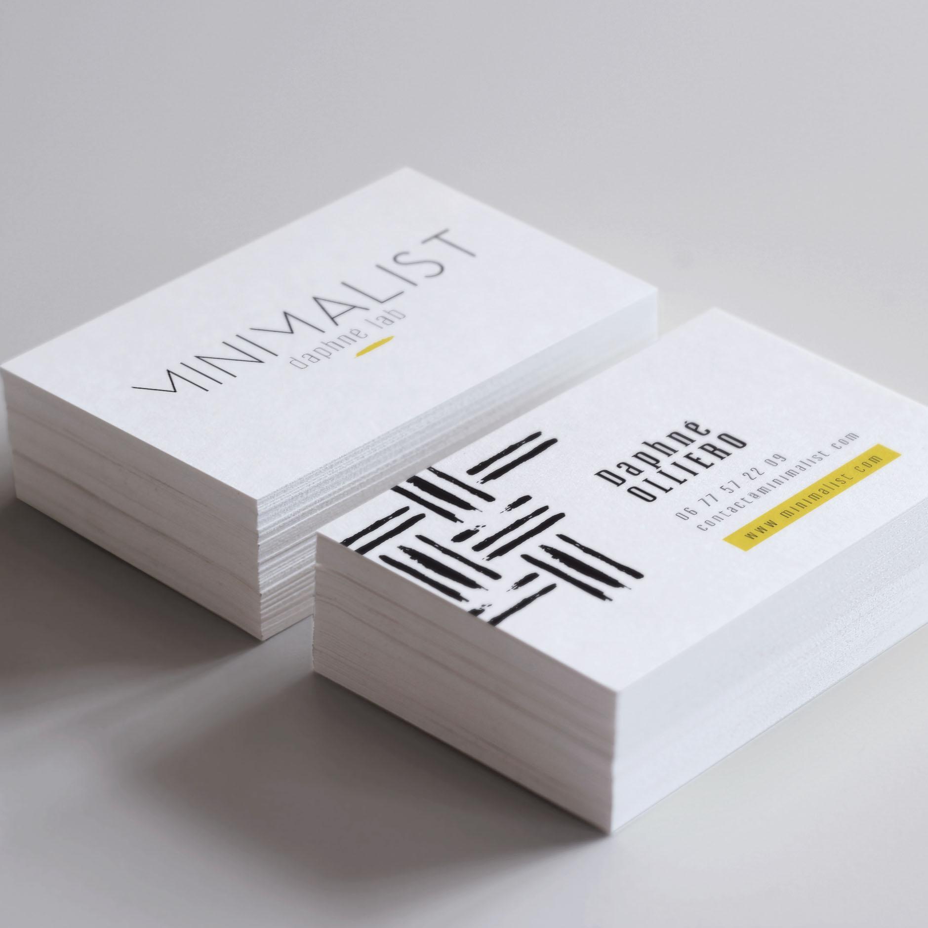cartes de visite laboratoire Minimalist