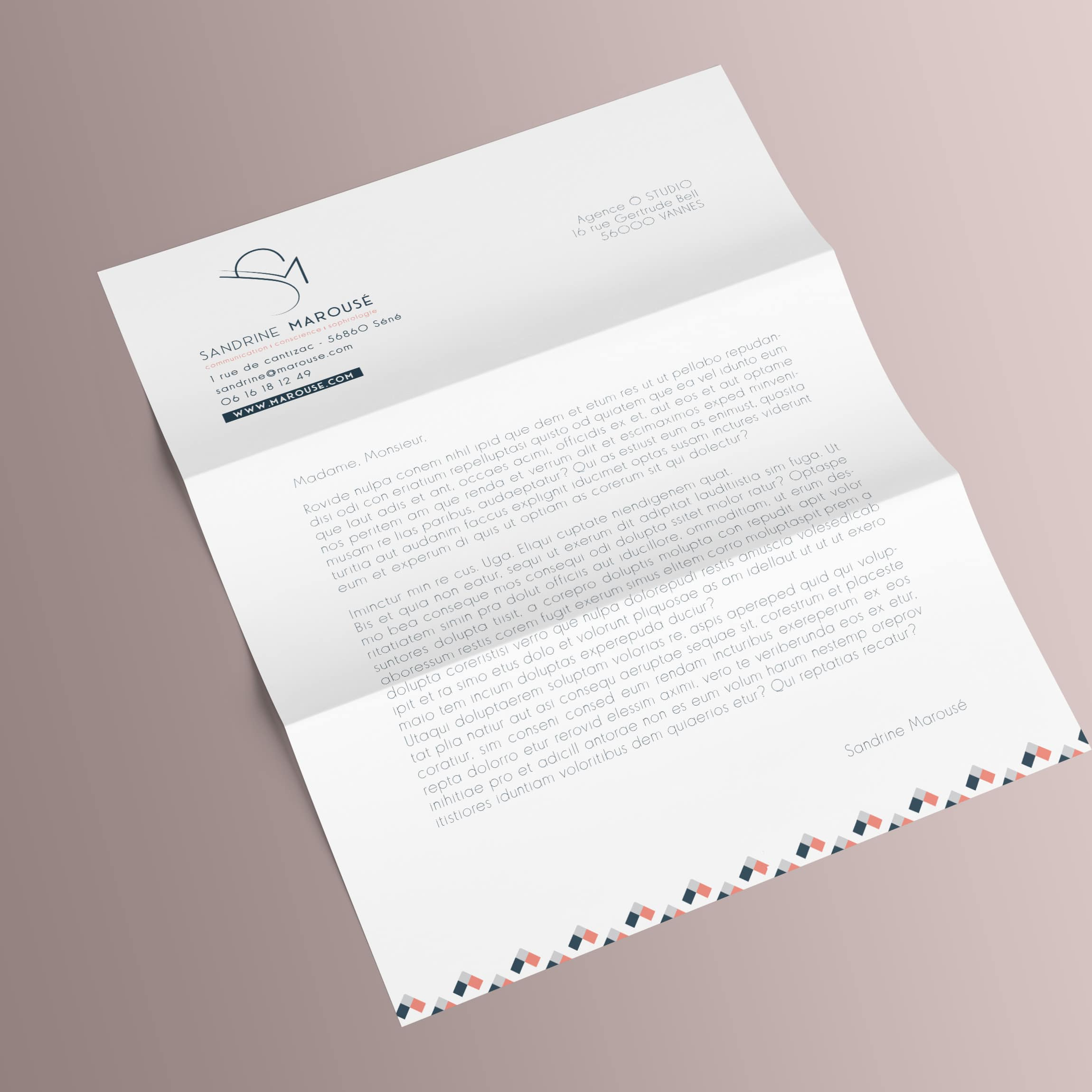 Tête de lettre Sandrine Marousé