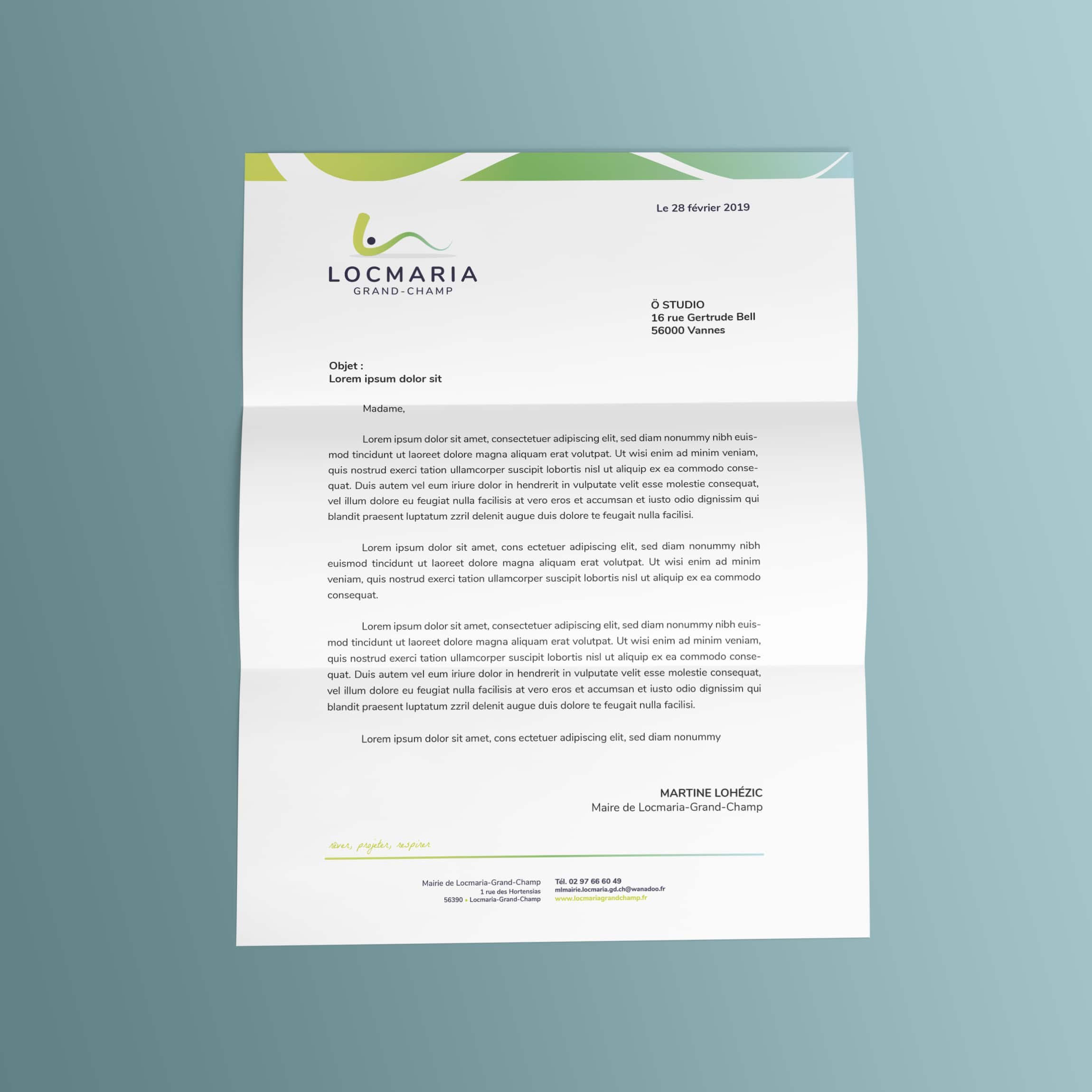Locmaria-Grand-Champ lettre