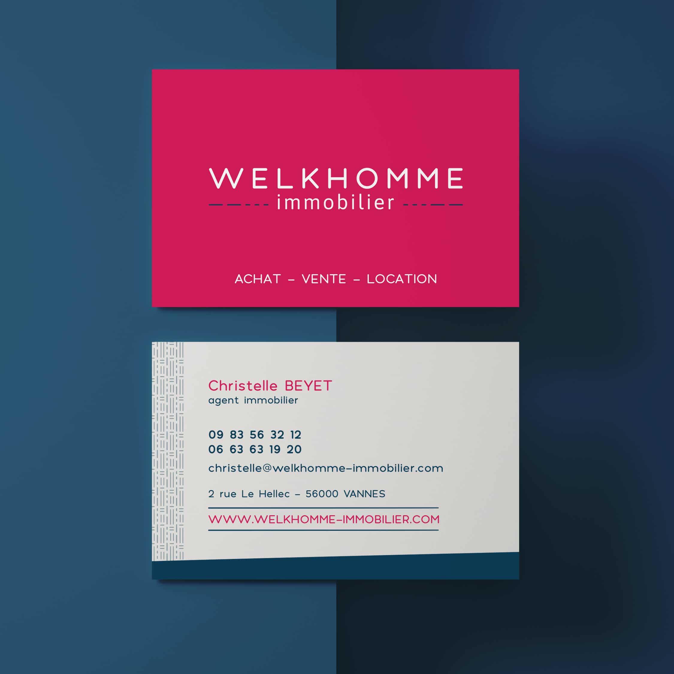 Carte de visite Welkhomme