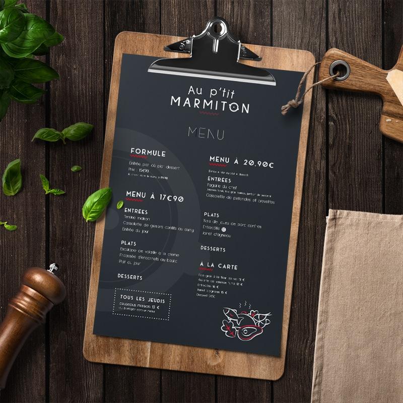 Au p'tit marmiton - restaurant - vannes - Menu
