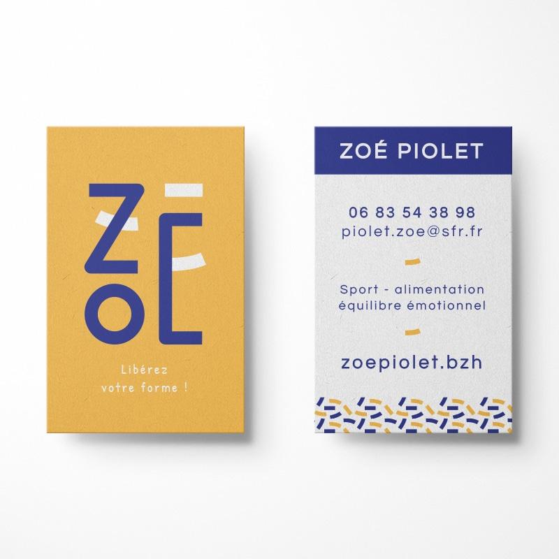 Zoe - coach sportive - carte de visite